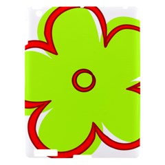 Flower Floral Red Green Apple Ipad 3/4 Hardshell Case by Alisyart