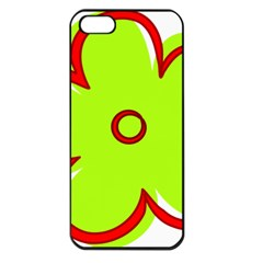Flower Floral Red Green Apple Iphone 5 Seamless Case (black) by Alisyart