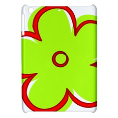 Flower Floral Red Green Apple Ipad Mini Hardshell Case by Alisyart