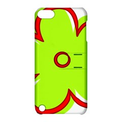 Flower Floral Red Green Apple Ipod Touch 5 Hardshell Case With Stand by Alisyart