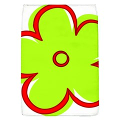 Flower Floral Red Green Flap Covers (l)  by Alisyart