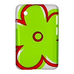 Flower Floral Red Green Samsung Galaxy Tab 2 (7 ) P3100 Hardshell Case  by Alisyart