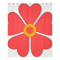 Flower With Heart Shaped Petals Pink Yellow Red Shower Curtain 60  X 72  (medium)