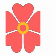 Flower With Heart Shaped Petals Pink Yellow Red Small Garden Flag (two Sides)