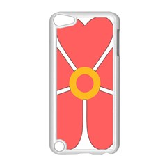 Flower With Heart Shaped Petals Pink Yellow Red Apple Ipod Touch 5 Case (white) by Alisyart