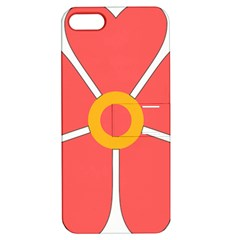 Flower With Heart Shaped Petals Pink Yellow Red Apple Iphone 5 Hardshell Case With Stand