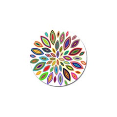 Chromatic Flower Petals Rainbow Golf Ball Marker by Alisyart