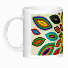 Chromatic Flower Petals Rainbow Night Luminous Mugs by Alisyart
