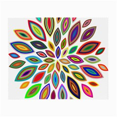 Chromatic Flower Petals Rainbow Small Glasses Cloth