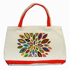 Chromatic Flower Petals Rainbow Classic Tote Bag (red) by Alisyart