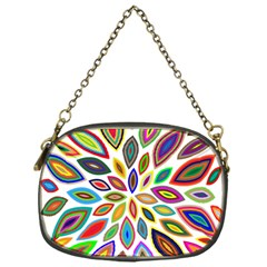 Chromatic Flower Petals Rainbow Chain Purses (one Side)  by Alisyart