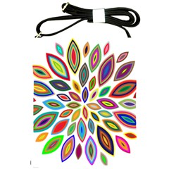 Chromatic Flower Petals Rainbow Shoulder Sling Bags