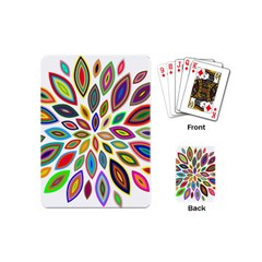 Chromatic Flower Petals Rainbow Playing Cards (mini)  by Alisyart