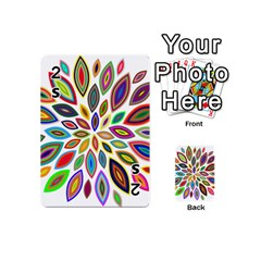 Chromatic Flower Petals Rainbow Playing Cards 54 (mini)  by Alisyart