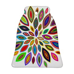 Chromatic Flower Petals Rainbow Bell Ornament (two Sides) by Alisyart