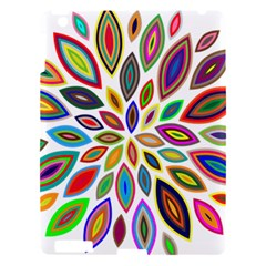 Chromatic Flower Petals Rainbow Apple Ipad 3/4 Hardshell Case