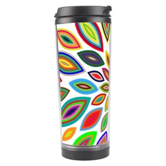 Chromatic Flower Petals Rainbow Travel Tumbler by Alisyart