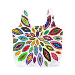 Chromatic Flower Petals Rainbow Full Print Recycle Bags (m)  by Alisyart