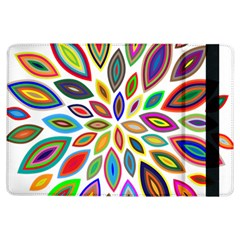 Chromatic Flower Petals Rainbow Ipad Air Flip by Alisyart