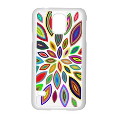 Chromatic Flower Petals Rainbow Samsung Galaxy S5 Case (white)