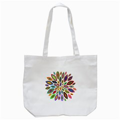 Chromatic Flower Petals Rainbow Tote Bag (white) by Alisyart