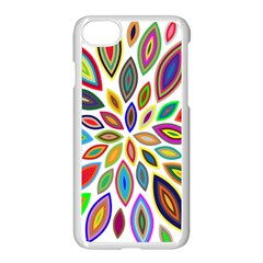Chromatic Flower Petals Rainbow Apple Iphone 7 Seamless Case (white) by Alisyart
