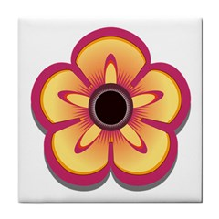 Flower Floral Hole Eye Star Tile Coasters by Alisyart