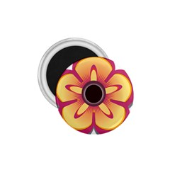 Flower Floral Hole Eye Star 1 75  Magnets