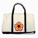 Flower Floral Hole Eye Star Two Tone Tote Bag Front