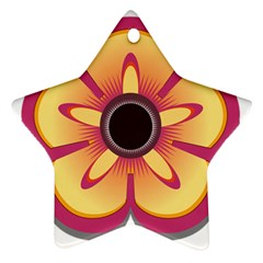 Flower Floral Hole Eye Star Star Ornament (two Sides)
