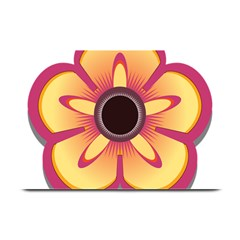 Flower Floral Hole Eye Star Plate Mats by Alisyart