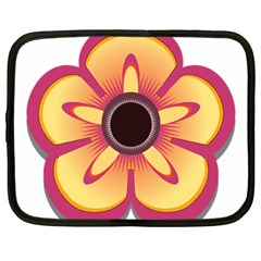 Flower Floral Hole Eye Star Netbook Case (large) by Alisyart