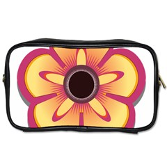 Flower Floral Hole Eye Star Toiletries Bags 2 Side