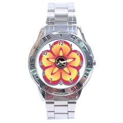 Flower Floral Hole Eye Star Stainless Steel Analogue Watch