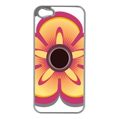 Flower Floral Hole Eye Star Apple Iphone 5 Case (silver) by Alisyart