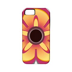Flower Floral Hole Eye Star Apple Iphone 5 Classic Hardshell Case (pc+silicone)