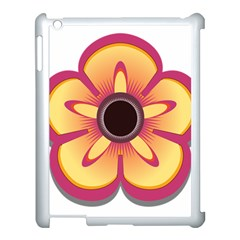 Flower Floral Hole Eye Star Apple Ipad 3/4 Case (white)