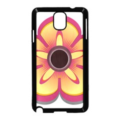 Flower Floral Hole Eye Star Samsung Galaxy Note 3 Neo Hardshell Case (black)