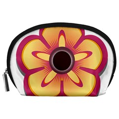 Flower Floral Hole Eye Star Accessory Pouches (large)  by Alisyart