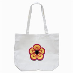 Flower Floral Hole Eye Star Tote Bag (white)