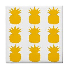 Fruit Pineapple Printable Orange Yellow Tile Coasters by Alisyart