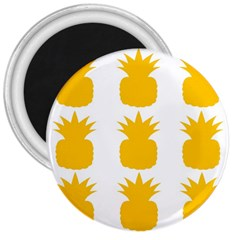 Fruit Pineapple Printable Orange Yellow 3  Magnets by Alisyart