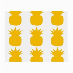 Fruit Pineapple Printable Orange Yellow Small Glasses Cloth (2 Side)
