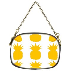 Fruit Pineapple Printable Orange Yellow Chain Purses (one Side)
