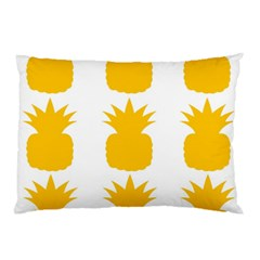Fruit Pineapple Printable Orange Yellow Pillow Case by Alisyart