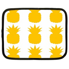 Fruit Pineapple Printable Orange Yellow Netbook Case (xxl)  by Alisyart
