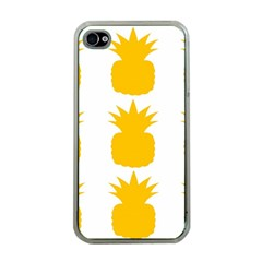 Fruit Pineapple Printable Orange Yellow Apple Iphone 4 Case (clear) by Alisyart