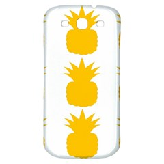Fruit Pineapple Printable Orange Yellow Samsung Galaxy S3 S Iii Classic Hardshell Back Case by Alisyart