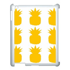 Fruit Pineapple Printable Orange Yellow Apple Ipad 3/4 Case (white)