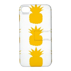 Fruit Pineapple Printable Orange Yellow Apple Iphone 4/4s Hardshell Case With Stand by Alisyart